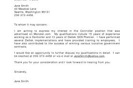 letter expressing concern cover letter samples to whom it may concern