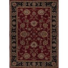 jaipur rugs mythos 10 x 14 hand tufted wool rug in red and black