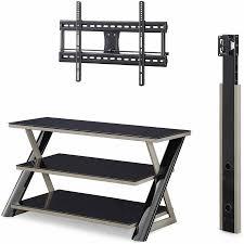 amazing entertainment center with tv mount 21 rustic espresso oak with 3 shelf black glass tv