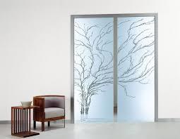 image of beautifull sliding glass door window treatment