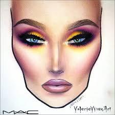 gorgeous valerievixenart face chart