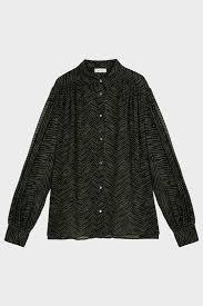 Anine Bing Size Chart Caleb Zebra Print Silk Shirt