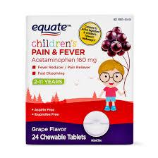 Jr Strength Acetaminophen Dosage Chart Equate Childrens Acetaminophen Chewable Grape Tablets 160 Mg 24 Ct Walmart Com