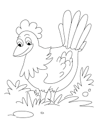 Hen Coloring Page Hen Coloring Page Worksheet Game For Kids ...