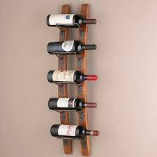 barrel stave wine rack wall mounted