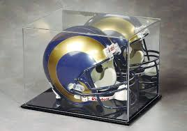football helmet display case acrylic with mirror back