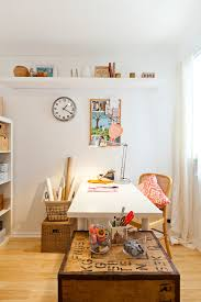 eclectic crafts room. Delighful Eclectic Gift Design Ideas Home Office Eclectic With Craft Space Ikea Clock Wall  In Eclectic Crafts Room