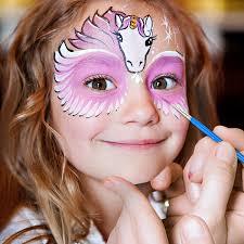 face paint set unitystar non toxic fda compliant face painting set with 14 paints 2 glitters bounus 2 brushes 40 stencils for kids parties