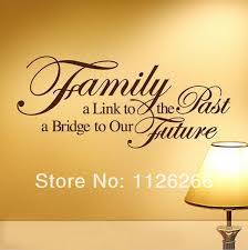 family a bridge to our future vinyl wall stickers art home room decor spiritual quotes wall on spiritual vinyl wall art with family a bridge to our future vinyl wall stickers art home room