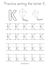Small Picture Letter K Coloring Pages Twisty Noodle