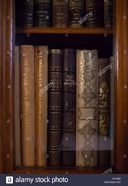 historic old books in a old library stock image