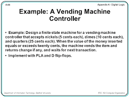 Design Of Vending Machine Controller Cool Chapter Contents A48 Sequential Logic A48 Introduction Ppt Download