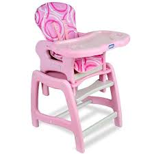 plastic baby high chair. baby high chair toddler feeding play table desk removable plastic tray - pink