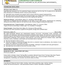Free Camp Counselor Resume Example Camp Counselor Resume