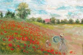 oil painting copy of claude monet field of poppies at argenteuil