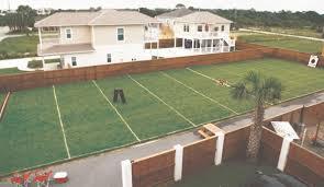 Backyard Football Field Goal Posts  Outdoor Furniture Design And Football Field In Backyard