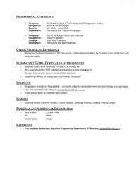Personal Interests On Resumes Resume Personal Interests Section Examples New Stock Resume