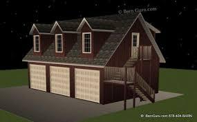 Double Duty 3Car Garage Cottage W Living Quarters HQ Plans Garages With Living Quarters