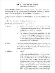 retainer consulting agreement free consulting contract template services agreement sample