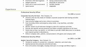Security Guard Resume Sample Security Officer Resume Luxury Security Guard Resume Sample 23
