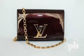 louis vuitton clutch bag. louis vuitton chaine louise glossy leather clutch shoulder purse bag u