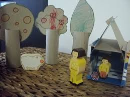 children s craft project slot together play house trees