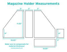 Magazine Holder Template DIY Magazine Holders Karen Kavett джинс Pinterest Magazine 2