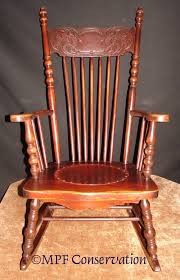 antique wooden rocking chair with leather seat ever x wood