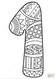 Small Picture Number 1 Zentangle coloring page Free Printable Coloring Pages