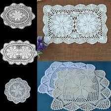 Flower Handmade Crochet Lace <b>Cotton</b> Table <b>Cup</b> Mats Doilies ...