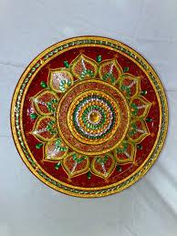Pooja Ki Thali Design Indian Art Aarti Thali Pooja Thali Www Ranjanaarts Com