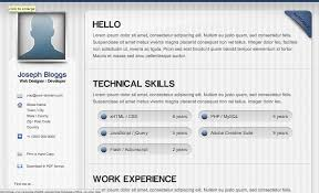 Resume Html Template Enchanting HTML Resume Templates