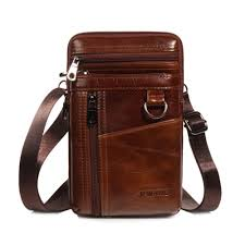 product details of oem vertical genuine leather belt bag cellphone holster waist pouch phone bag small travel cross purse for men and boys