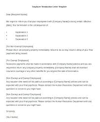 Employee Termination Letter Due To Poor Performance In Word Template