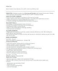 Plumber Resume Enchanting Plumber Resume Sample As Well As Plumber Resume To Frame Cool