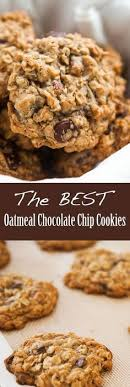 chewy oatmeal chocolate chip cookies with browned er chocolate chips and pecans