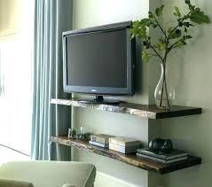 decor around mounted tv best decorating around