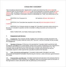 Duties Of A Marketing Consultant Sample Consulting Contract Template 10 Documents In Pdf Word
