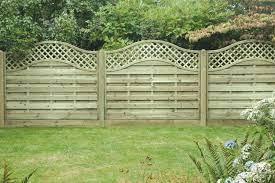 omega lattice top fencing panels