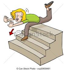 down stairs clipart.  Down Woman Falling Down Stairs  Csp20659461 Throughout Clipart A