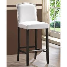 upholstered bar stools. Baxton Studio Libra White Faux Leather Upholstered 2-Piece Bar Stool Set Stools