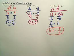 two step equations help page
