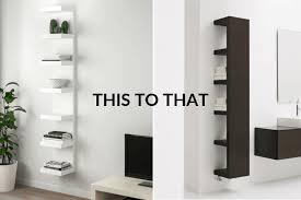 how to hang ikea lack wall unit facing