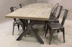 industrial furniture legs. industrial metal leg oak table furniture legs