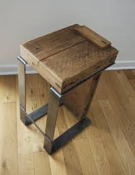 contemporary rustic furniture. Reclaimed Wood Bar Stool Industrial Handmade Contemporary Rustic Furniture