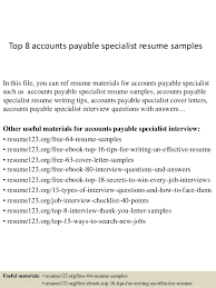 Accounts Payable Resume Impressive Accounts Payable Resumes Canreklonecco
