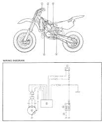 yz80 wiring diagrams and electrical components trouble shoot 2001 yamaha yz80 dirt bike wiring schematic diagram