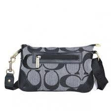 Coach Swingpack Monogram Small Grey Crossbody Bags DPN