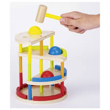 ball tower toy. wooden toddler\u0027s toy hammer ball tower