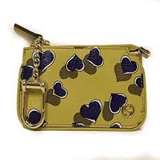 gucci keychain wallet. gucci card holder \u0027heartbeat\u0027 yellow leather designer keychain wallet 233183 e